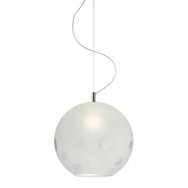 Circular Patterend Glass Ceiling Pendant Light With A Long