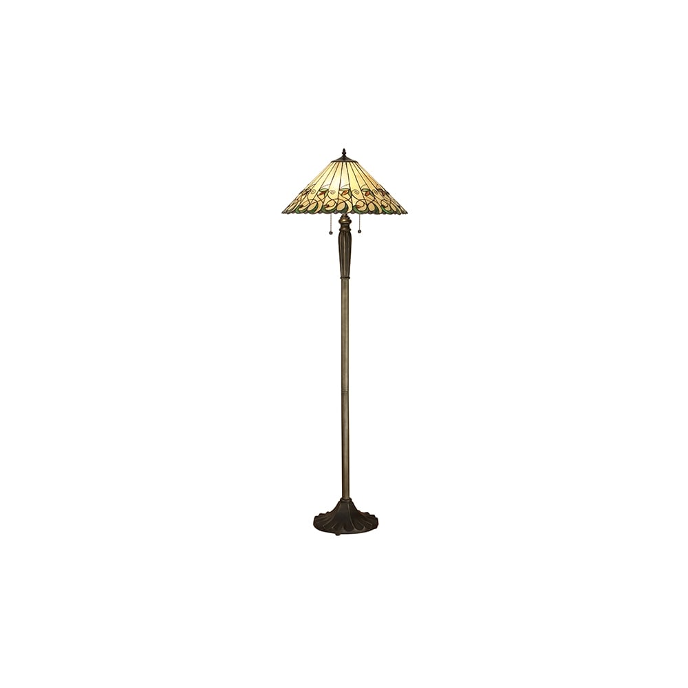 Tiffany art nouveau style floor lamp with bronze effect base tiffany art nouveau standard floor lamp with bronze effect base aloadofball Choice Image