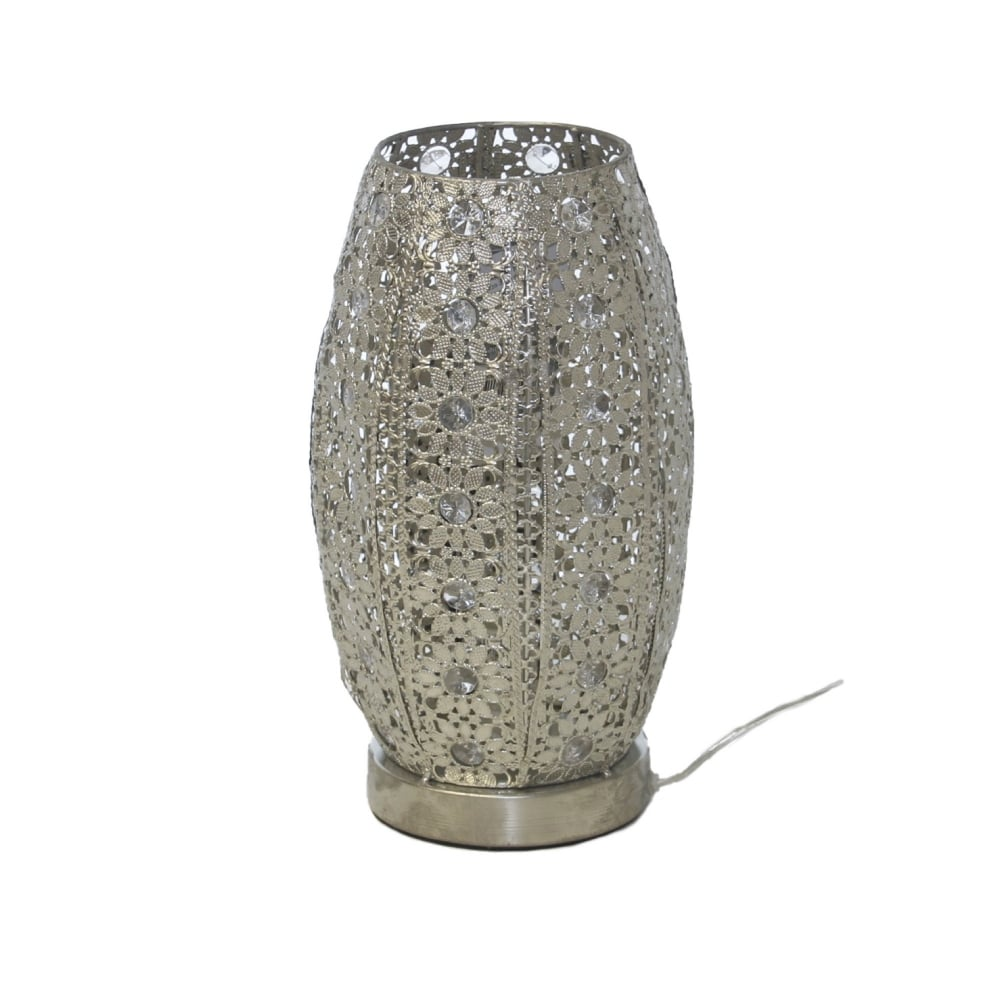 Silver Finish Moroccan Table Lamp Lighting Company