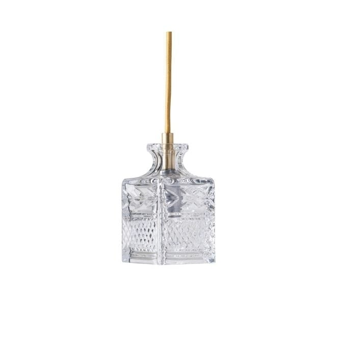JEEVES lead crystal pendant with gold suspension