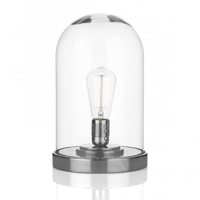 5aa6f3aa026f5 The David Hunt Lighting Collection JEFFERSON cloche pewter and glass table  lamp
