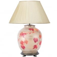 COLLINGRIDGE Vine Large Round with Silk Knife Pleat Balloon Lined Almond Shade 50cm