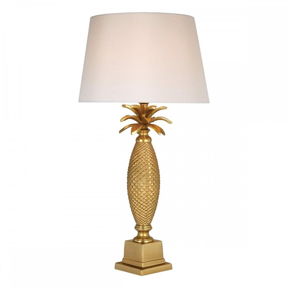 Matte Gold Palm Tree Table Lamp Base