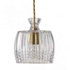 JULIAN cut lead crystal decanter pendant ceiling light