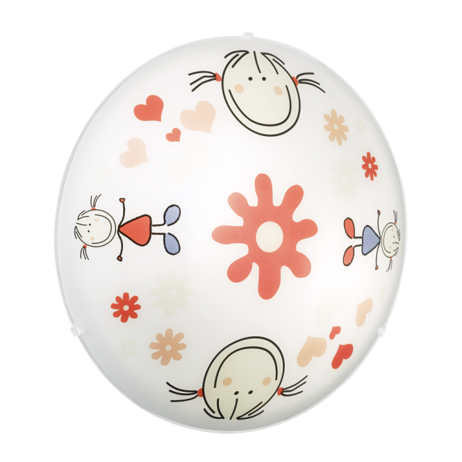 JUNIOR 2 children's flower girl glass dome ceiling light