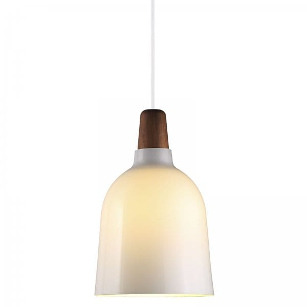 Soho Bar Pendant With 3 Opal White Glass Lights Supended: Contemporary Ceiling Pendant With White Glass Shade