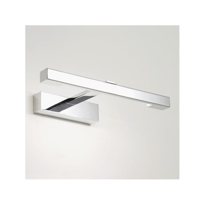 Modern Bathroom Wall Light in Chrome - Great Over Mirror Light, IP44.