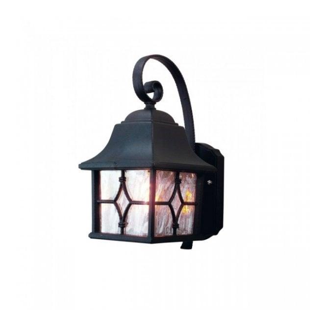 Kent black garden wall lantern