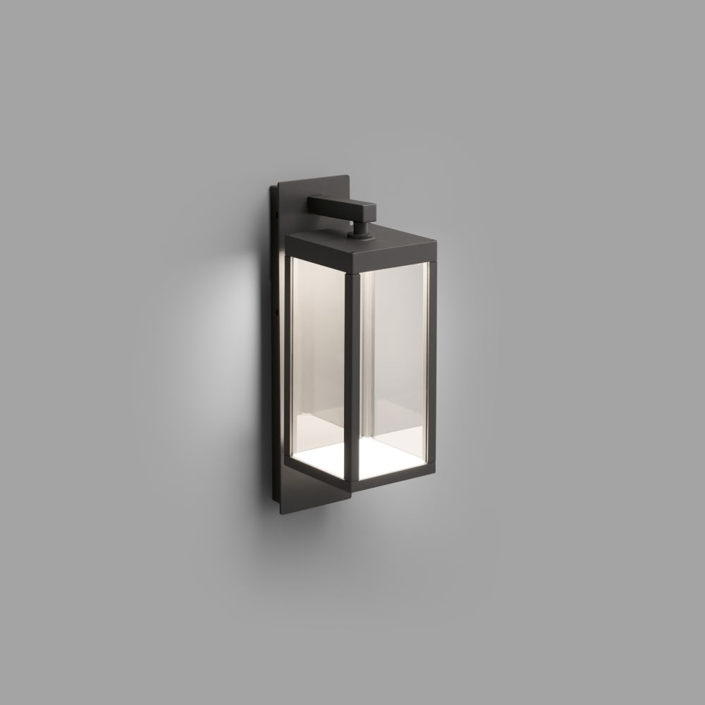Kerala dark grey led exterior wall lantern