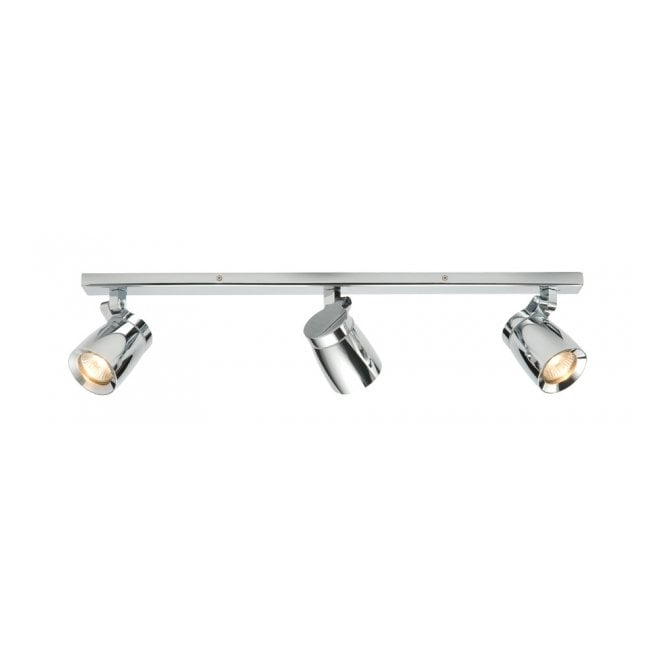 KNIGHT Chrome Bathroom Spotlight Bar IP44 Rated, Dimmable & Adjustable