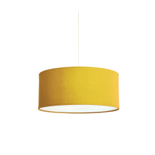 ochre yellow polyester easy fit shade with diffuser