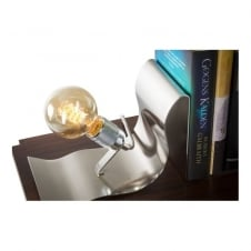 vintage silver book end table lamp