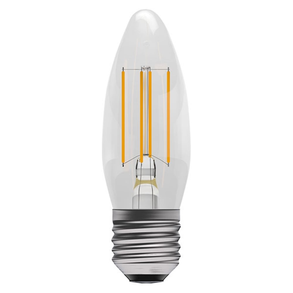 LED Clear Filament Dimmable Candle Bulb