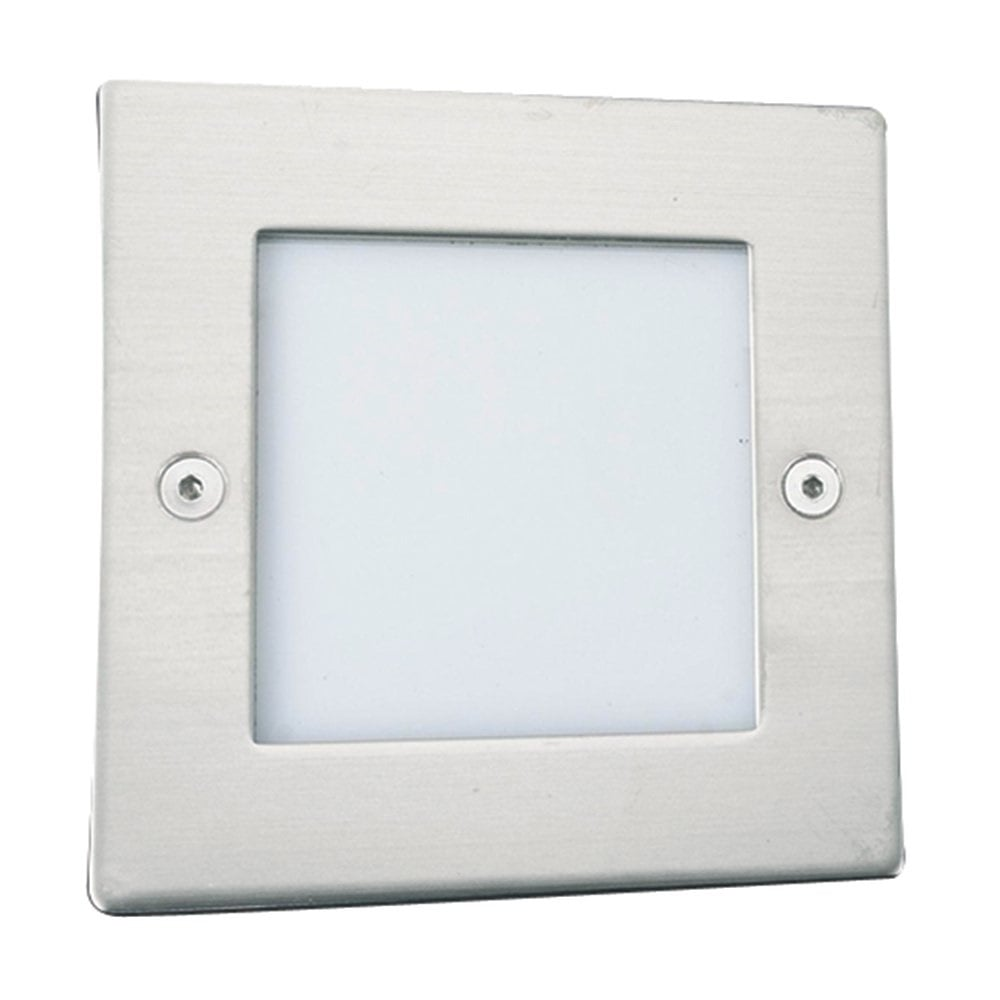 Led recessed low energy wall light