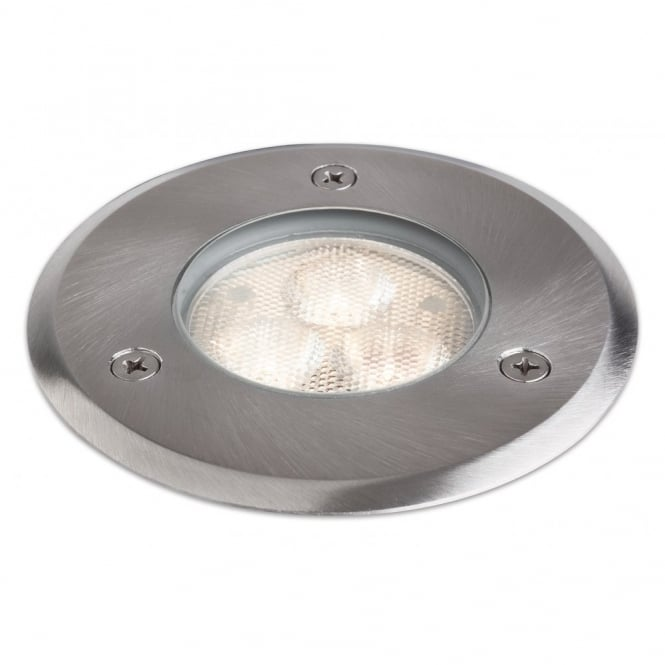 Modern recessed outdoor led floor spot with stainless steel finish led walkover stainless steel recessed ground spot light mozeypictures Image collections