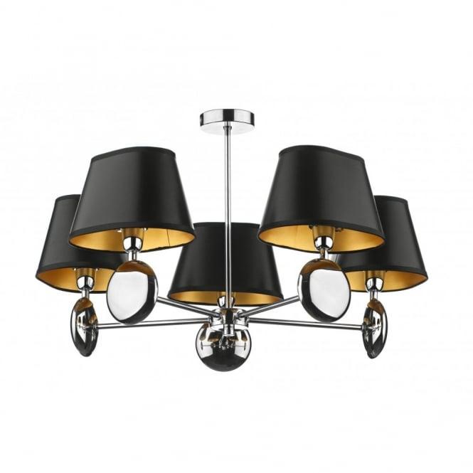 LEXINGTON Double Insulated Ceiling Light Black Shades
