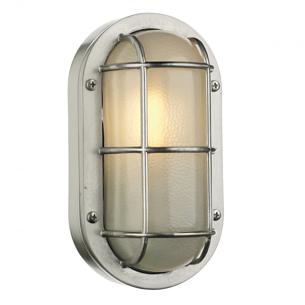 Lighthouse exterior oval bulkhead light in nickel finish oval outdoor bulkhead in nickel finish aloadofball