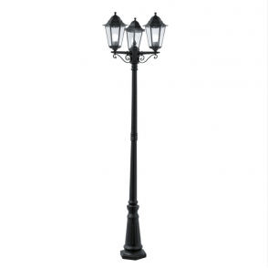 Small Garden Lamp Post Light Traditional Black Aluminium IP44 Outdoor