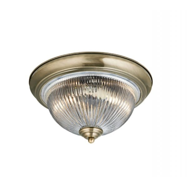 Flush fitting light for low ceilings circular antique for Antique bathroom lighting fixtures