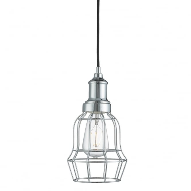 Lighting Catalogue BELL CAGE single ceiling pendant in chrome