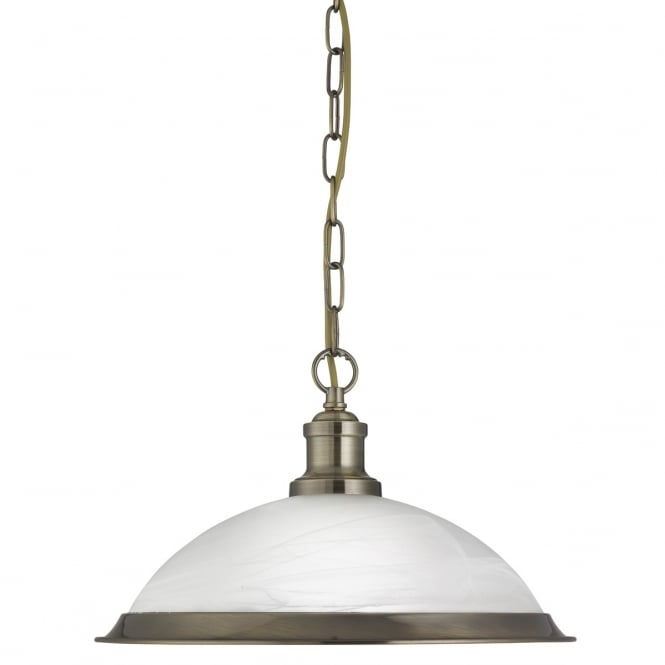 Lighting Catalogue BISTRO antique brass and acid glass ceiling pendant