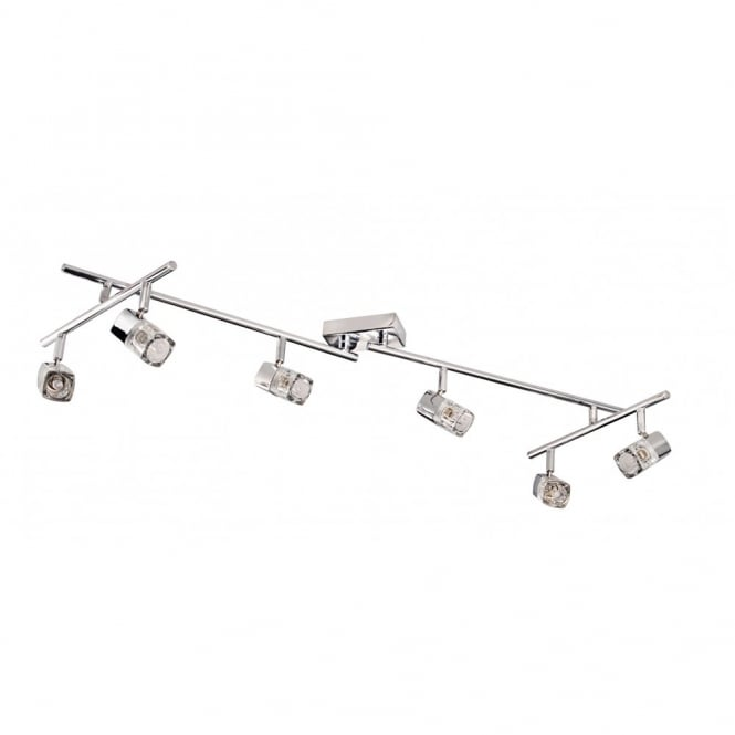 Lighting Catalogue BLOCS adjustable chrome 6 light spotlight bar