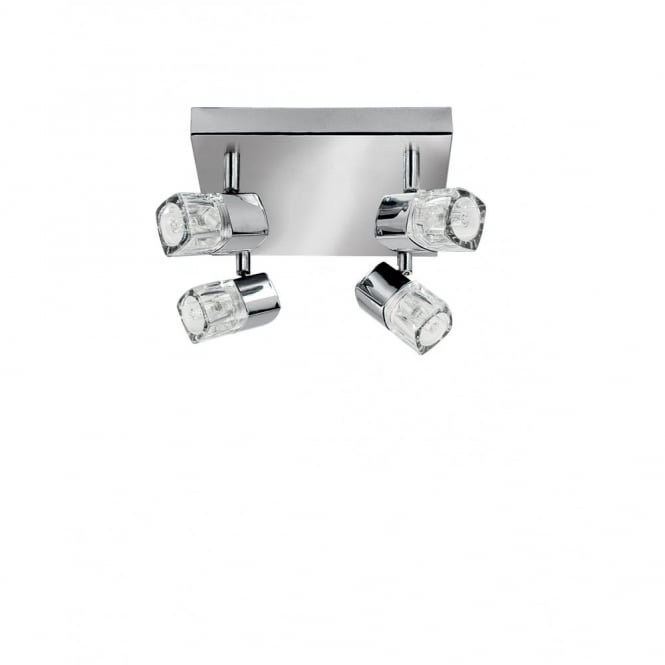 Lighting Catalogue BLOCS chrome 4 spot ceiling spotlight cluster
