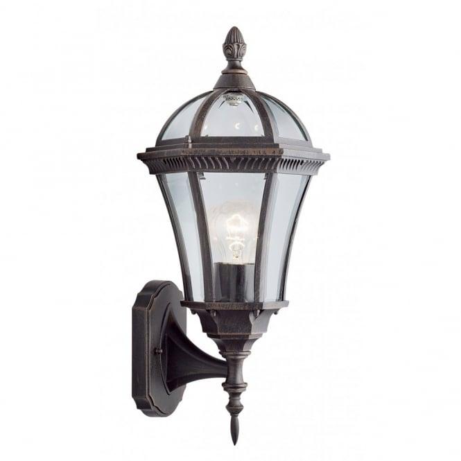Buy Capri Rustic Brown Aluminium Garden Wall Lantern Ip44