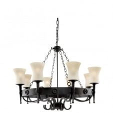 CARTWHEEL wrought iron circular ceiling pendant light