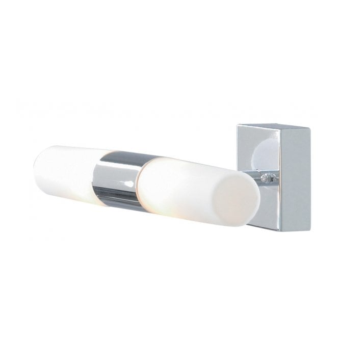 Lighting Catalogue CHROME and mirror opal glass bathroom wall light
