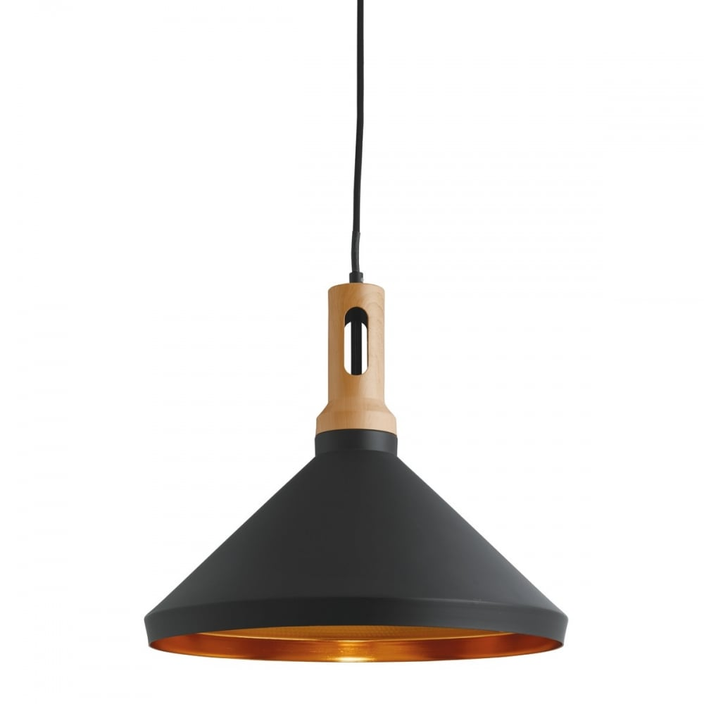 A contemporary pendant with black outer gold inner and for Contemporary lighting pendants