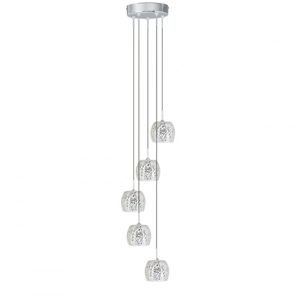 cluster pendant lighting. White Mosaic Glass Ceiling Pendant Cluster Lighting