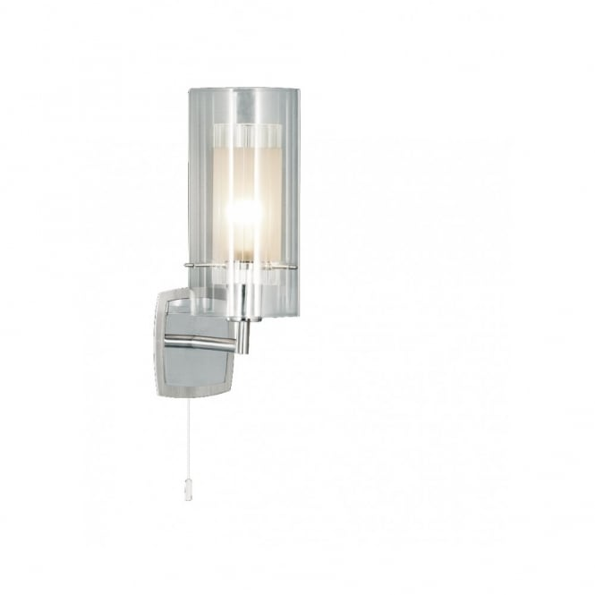 Lighting Catalogue DUO modern chrome & glass switched wall light