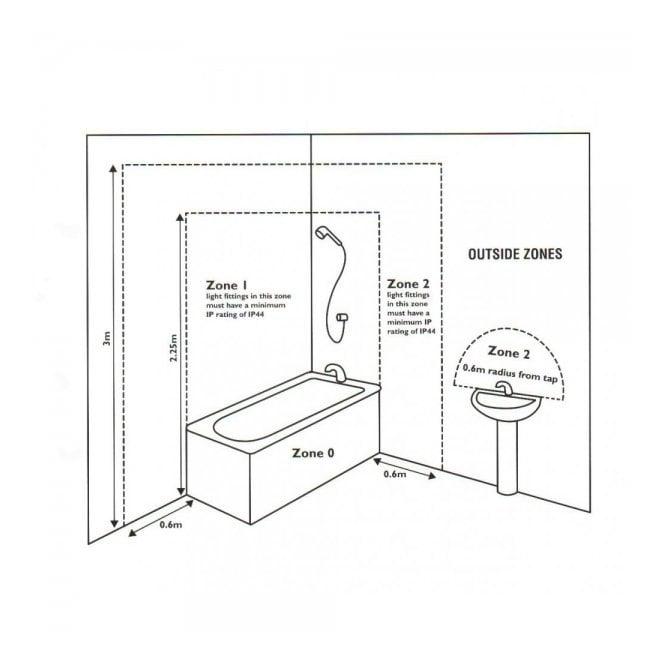 Energy Saving Bathroom Ceiling Lights energy saving clear and opal glass bathroom ceiling light