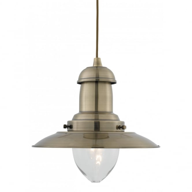 FISHERMAN antique brass ceiling pendant light