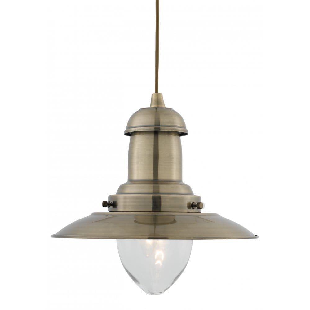 Ceiling Lights Company : Fisherman antique brass ceiling pendant light