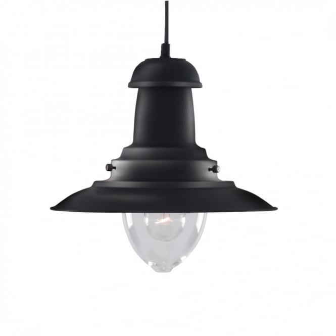 Lighting Catalogue FISHERMAN lantern black rustic ceiling pendant light