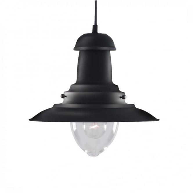 Rustic Black Fishermans Lantern Hanging Ceiling Pendant Light