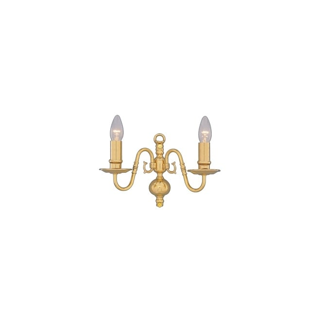 Lighting Catalogue FLEMISH traditional solid brass double wall light