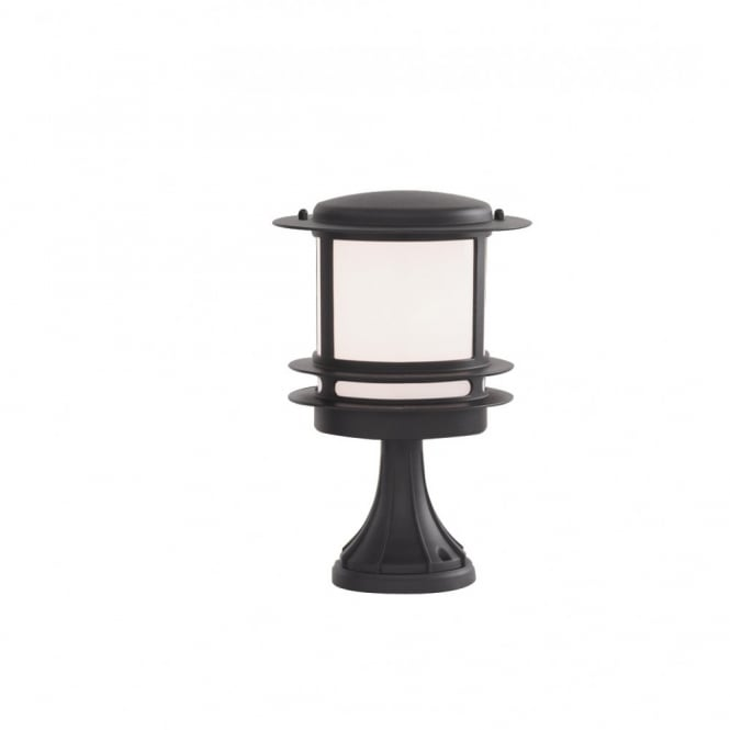 GARDEN POST LIGHT Black Aluminium Outdoor Pedestal IP44