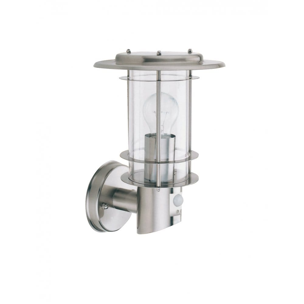 Modern Garden Wall Light In Stainless Steel With Built In