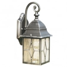 GENOA antique black silver garden wall lantern