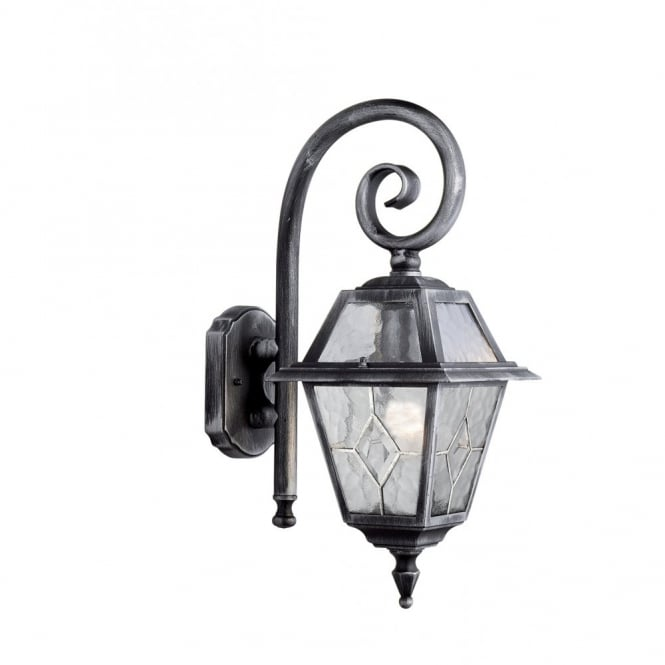 Traditional Garden Wall Lights : Antique Silver Traditional Garden Wall Lantern, great for rustic homes