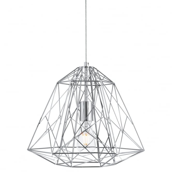 Lighting Catalogue GEOMETRIC CAGE ceiling pendant in chrome