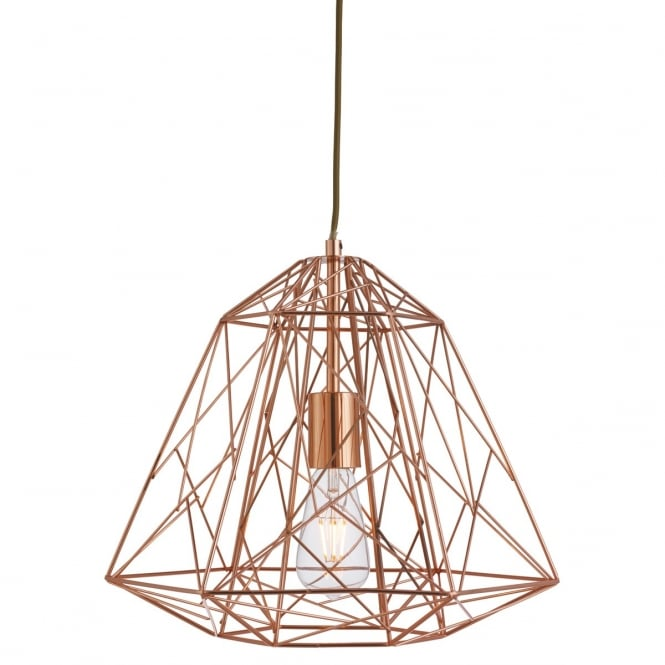 Lighting Catalogue GEOMETRIC CAGE ceiling pendant in copper