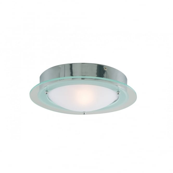 Lighting Catalogue GLASS lipped opal bathroom ceiling light