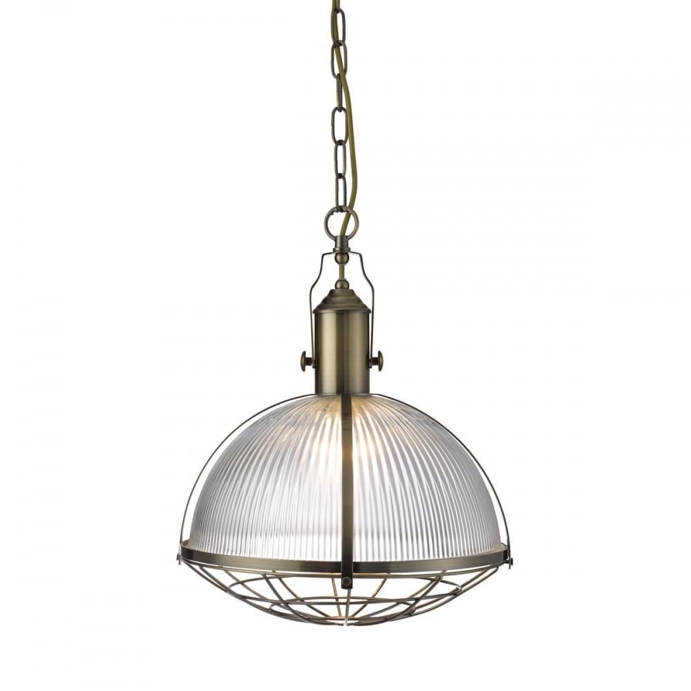 Industrial Design Antique Brass Ceiling Pendant With
