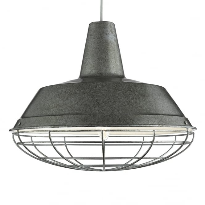 Lighting Catalogue INDUSTRIAL antique silver caged ceiling pendant