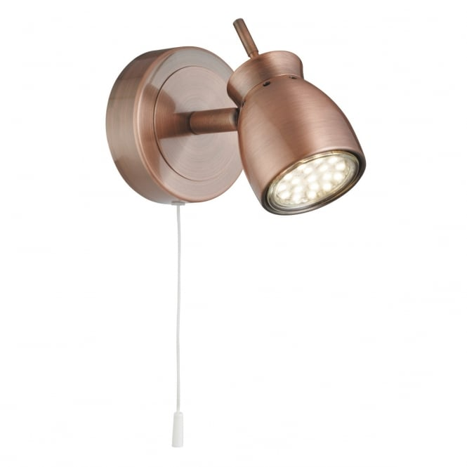 Lighting Catalogue JUPITER LED antique copper wall spot light
