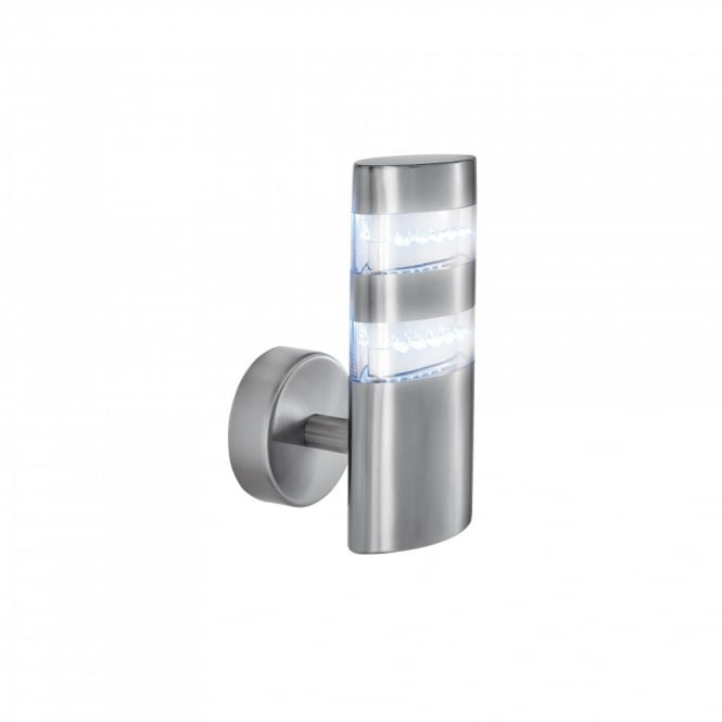 LED GARDEN WALL LIGHT low energy satin silver  sc 1 st  The Lighting Company & LED Tube Shaped Garden Wall Light in Stainless Steel